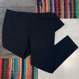 Cynthia Rowley Navy Tapered Cropped Trousers